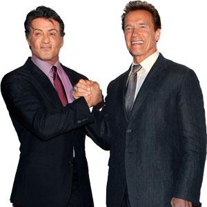 Arnold Schwarzenegger és Sylvester Stallone