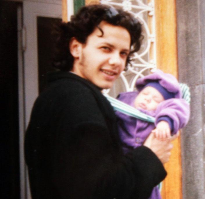 A 20 esztendős Damu és nagyobbik fia, Andor (forrás: Blikk.hu)