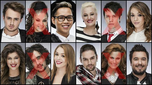 The Voice - Az első élő adás szereplői és kiesői (fotó: voice.hu)