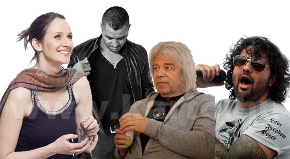 The Voice Mesterek - A zsűri: Malek Andrea, Caramel, Somló Tamás, Mező Misi