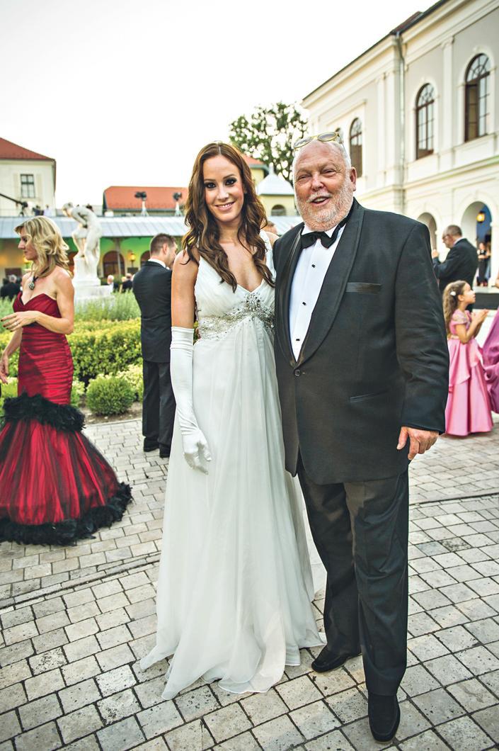 Andy Vajna és Palácsik Tímea ma már férj és feleség