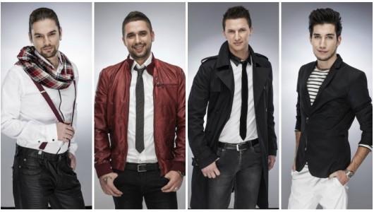 The Voice Döntősei: Pál Dénes, Gájer Bálint, Nádor Dávid, Weisz Viktor (kép: voice.hu)